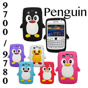Cute-Penguin-For-BlackBerry-Bold-9700-9780-Soft-Silicone-Case-Back-Skin-Cover