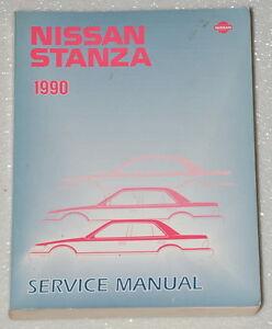 1990-NISSAN-STANZA-XE-GXE-Original-Factory-Dealer-Shop-Service-Repair-Manual-90
