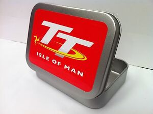 Motorcycle-Motorbike-Racing-Bike-Cigarette-Tobacco-Storage-2oz-Hinged-Tin