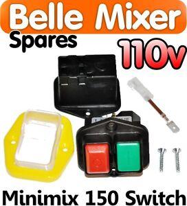 Belle-Cement-Concrete-Mixer-110v-ON-OFF-Switch-Minimix-150-Spares-Parts-Electric