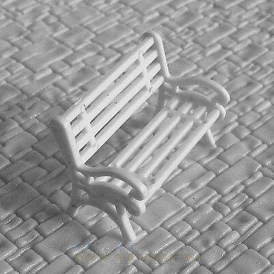 15 pcs O Scale Model Park Benches Platform settee #CW