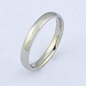 plain stainless steel s ring wedding band unisex