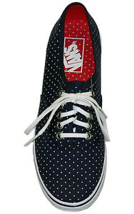 NIB-Vans-Authentic-Lo-Pro-Micro-Dot-Dress-Blues-True-White-Women-Shoes