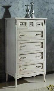 Settimino cassettiera camera da letto laccato bianco e for Cassettiera camera da letto mondo convenienza