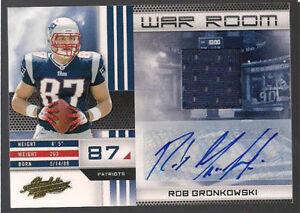 Rob-Gronkowski-2010-Absolute-Memorabilia-RC-Auto-Jersey-25-Patriots-FREE-SHIP