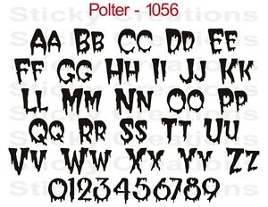 image is loading 1056 custom dripping text vinyl letters decal graphic