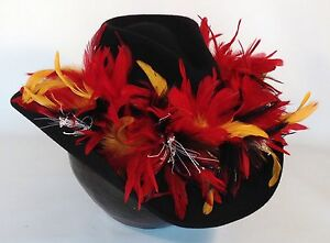 Kansas-City-Chiefs-Exotic-Feather-Team-Colors-Cowboy-Hat-Hand-Made-SALE