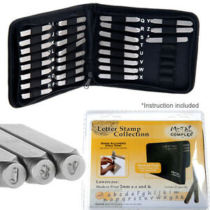 2mm-Metal-Stamp-MODERN-Font-LOWERCASE-letter-steel-Punch-Set-A-Z-amp-27pc