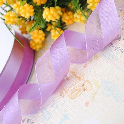 """1"""" 25mm satin/organza ribbon appliques wedding decoration craft Lots color Upick"""