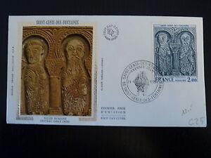 France Premier Jour Fdc N° 1867 Eglise St Genis 2f St Genis Des Fontaines 1976 Pour Assurer Une Transmission En Douceur