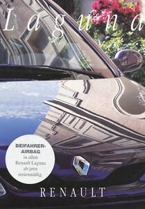 Renault Laguna Autoprospekt 10 94 Prospekt brochure 1994 Auto PKWs Autoprospekt