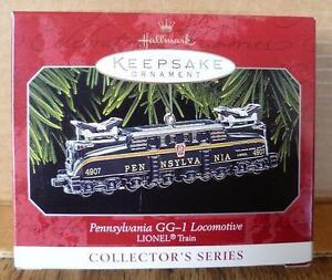 1998-Pennsylvania-GG-1-Locomotive-Hallmark-Ornament-New-In-Box-3-in-Series