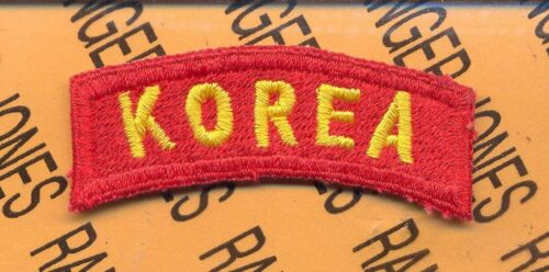 """US ARMY /""""KOREA/"""" Tab #4   Red and Gold"""