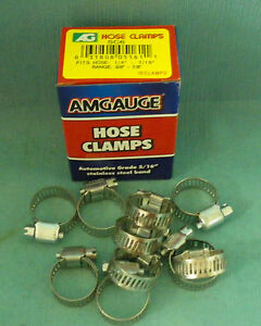STAINLESS-STEEL-BAND-HOSE-CLAMP-3-8-034-7-8-034-AMGAUGE-6-MINI-CLAMPS-10-PIECES
