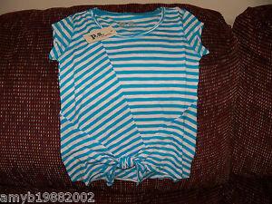 P-S-Aeropostale-Blue-White-Striped-Shirt-Size-6-Girls-NEW-LAST-ONE