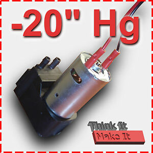 20-034-Hg-12V-DC-VACUUM-PUMP-Hobby-Lab-Projects-Wet-or-Dry