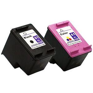2 Pk Hp 61 Xl Ink Cartridge For Deskjet 1000 3000 1050 2050 3050 3054 Printer Ebay