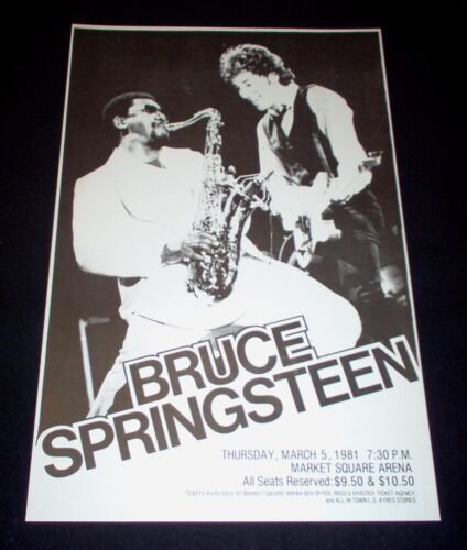 Bruce Springsteen 1981 River Concert Tour Poster Clarence Clemons RARE