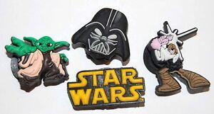 Zapato Jibbitz Garabatos Starwars, Yoda, Darth Vader, Luke para Holey Sandalias