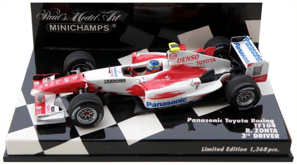 Minichamps Toyota Racing TF104 2004-Ricardo Zonta (controlador 3rd) escala 1 43