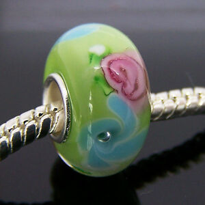 .925 MURANO GLASS BEAD FOR Charm Fit European Bracelet