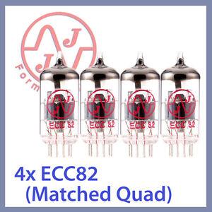 4x-NEW-JJ-Tesla-12AU7-ECC82-Vacuum-Tubes-Matched-Quad-TESTED