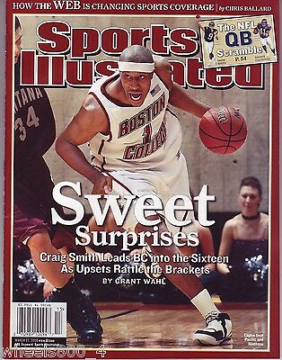 Sports Illustrated 2006 Boston College Eagles Craig Smith Newstand Issue NoLabel