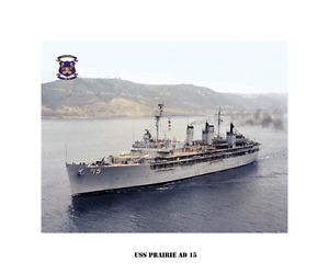 USS-PRAIRIE-AD-15-ca-1971-US-Naval-Ship-USN-Navy-Photo-Print