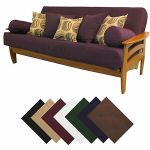 Solid-Upholstery-Grade-Futon-Cover-Choose-Size-Color