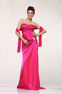 Elegant-Long-Formal-Strapless-Classic-Prom-Bridesmaids-Dresses-Wedding-Event