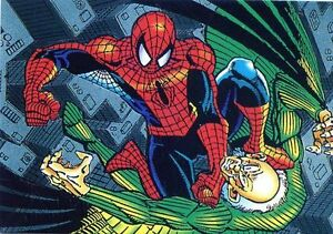 Spiderman-Card-New-Mint-Condition-of-1992-N-22-the-Vulture