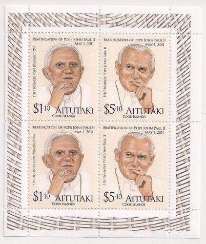 Aitutaki Pope Issue -- John Paul II -- Mini-Sheet