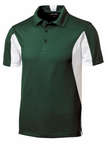 Mens Polo Shirt Moisture Wicking DriFit Snag Resist Color Block XS-XL 2X 3X 4X