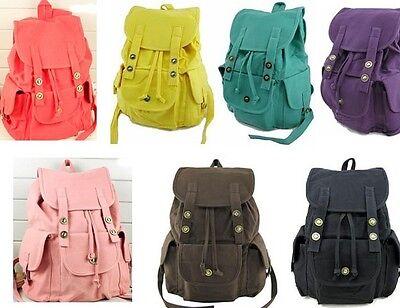 Candy color HOT SALE Women Girls Canvas Leisure Backpack travel Bag Schoolbag