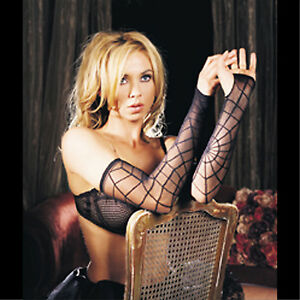 Black-Gothic-Vampire-SPIDER-WEB-ARM-WARMER-SLEEVES-Lolita-Cosplay-Costume-Gloves