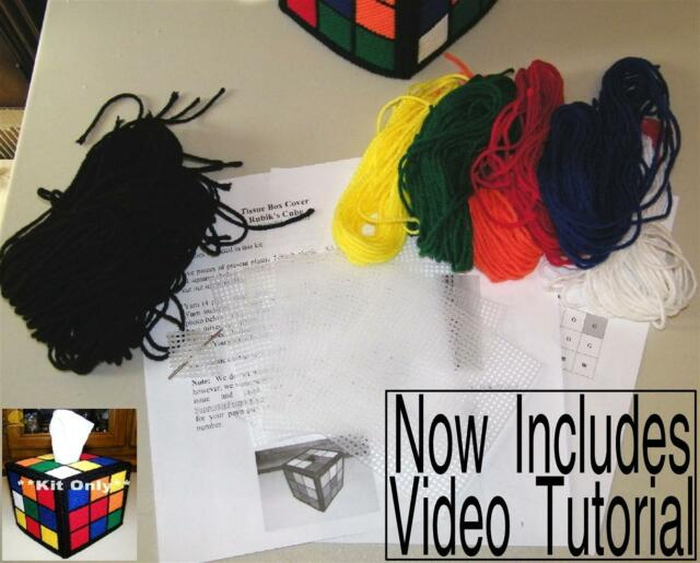 Rubik's Rubiks Cube Tissue Box Cover Kit Only Big Bang Theory Pattern Rubix