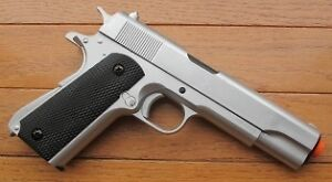 Heavy-Weight-Silver-1911-Style-Airsoft-Spring-Pistol-With-Metal-Core