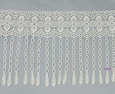 Wholesale 10yards Off White Flower Venise Lace Fringe Applique Lace Sewing Trim