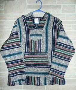 SMALL-Many-styles-YOU-CHOOSE-Baja-Surfer-Hoodie-Skater-Jacket-Mexican-Poncho