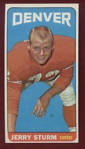 1965-Topps-Football-64-Jerry-Sturm-SP-Broncos-NrMt-Mt