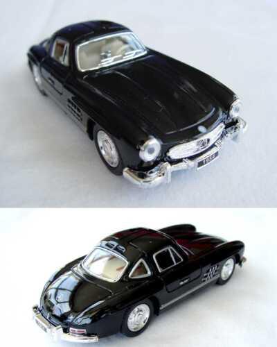 Mercedes-benz 300sl 1:36 maqueta de coche modelo auto moldeo retirada motor 12177