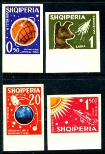 Albania 621-624, MNH, SCV-$60.0, Imperforeted Space.1962. x8974