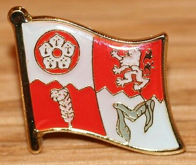 Leicestershire England County Flag Enamel Pin Badge UK Great Britain