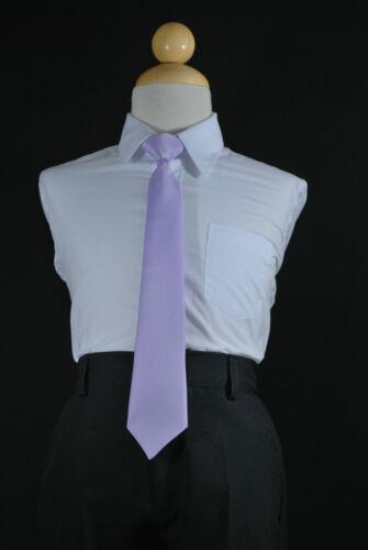 11 Colors Boys Satin Clip On Long Neck Tie matching Boy Suit Size 8 10 12 14