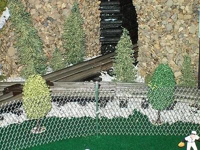 CHAIN LINK FENCE for Model Railroads, Fairy Gardens, Diorama, Miniature Scenery