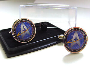 STAR-TREK-STARFLEET-COMMAND-MENS-CUFFLINKS-CUFF-LINKS-GIFT