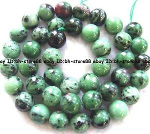 Natural-Ruby-Zoisite-Round-Gemstone-beads-15-039-039-4mm-6mm-8mm-10mm-12mm-14mm