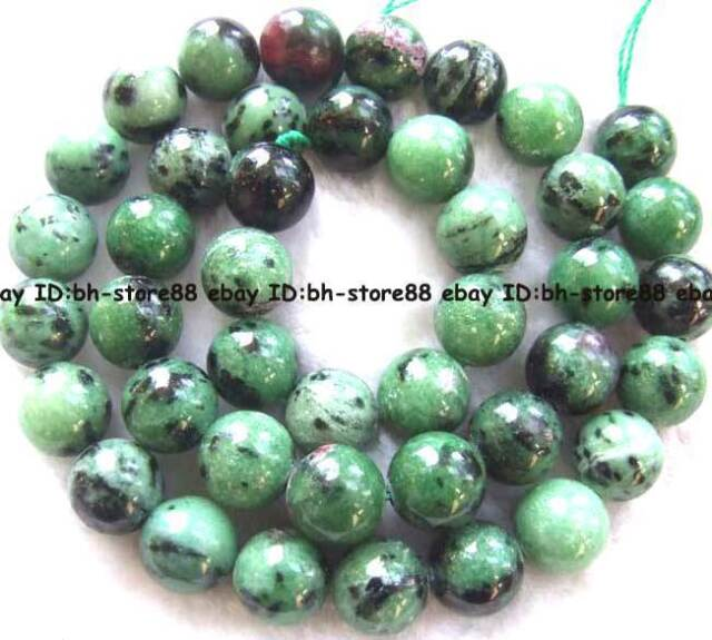 Natural Ruby Zoisite Round Gemstone beads 15'' 4mm 6mm 8mm 10mm 12mm 14mm