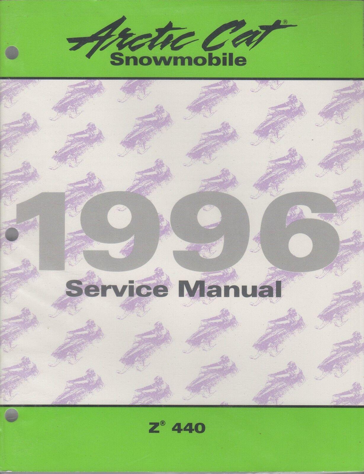 1996  ARCTIC CAT SNOWMOBILE  Z 440  SERVICE MANUAL PN 2255-308