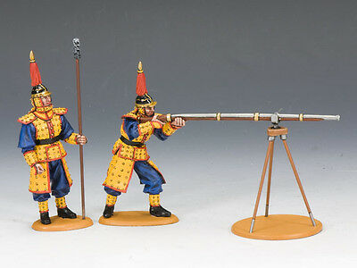KING AND COUNTRY Imperial Match Lock Gun Team B PAINTED DIECAST METAL IC042 IC42